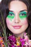 Zamyka w górę portreta brunetki kobieta obrazy royalty free