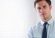 Zamyka w górę portreta elegancki biznesmen zdjęcie stock