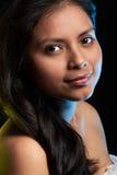 Zamyka w górę portreta latynoska kobieta zdjęcia stock