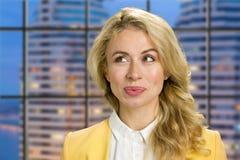 Zamyka w górę portreta piękna biznesowa kobieta Zdjęcia Stock