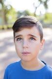 Zamyka w górę portreta przystojna chłopiec fotografia stock