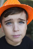 Zamyka w górę portreta przystojna chłopiec zdjęcia royalty free