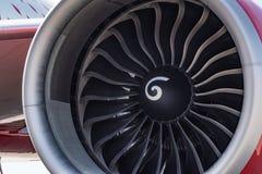 Zamyka w górę silnika nowożytny samolot obrazy royalty free