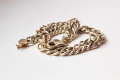 Zamyka w górę srebro łańcuchu klejnotu jewellery obraz stock