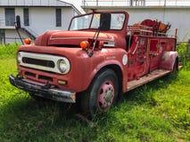 Zamyka w górę starego samochodu strażackiego Zdjęcia Royalty Free