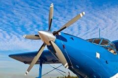 Zamyka w górę starego samolotu śmigła obrazy royalty free