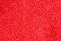Zamyka w górę strzału czerwonego microfiber sukienna tekstura dla tła Fotografia Stock