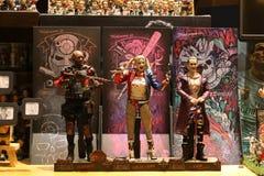 Zamyka w górę strzału Deadshot joker Quinn i Harley obraz royalty free