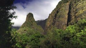 Zamyka w górę strzału Maui iao historyczna igła zdjęcie wideo