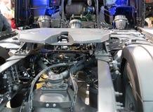 Zamyka w górę szczegółu nowy ciężarowy silnik Zdjęcia Royalty Free