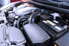 Zamyka w górę szczegółu nowy samochodowy silnik Zdjęcie Royalty Free