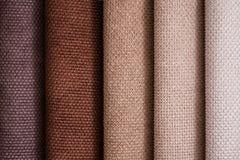 Zamyka W górę szczegółu Wielo- kolor tkaniny tekstury próbki Zdjęcia Royalty Free
