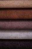 Zamyka W górę szczegółu Wielo- kolor tkaniny tekstury próbki Obrazy Stock