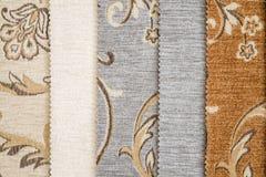 Zamyka W górę szczegółu Wielo- kolor tkaniny tekstury próbki Obraz Royalty Free