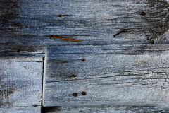Zamyka w górę tła stara drewniana bridżowa podłoga Fotografia Royalty Free