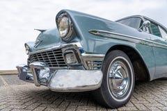 Zamyka w górę taillight twardy amerykański samochód od lata pięćdziesiąte Niski k?t zdjęcie stock