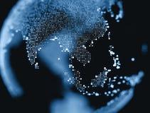 Zamyka w górę Tajlandia światowej mapy punkt zdjęcie royalty free