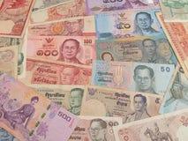 Zamyka w górę Tajlandzkiego banknotu, Tajlandzki skąpanie z wizerunkiem królewiątko Bhumibol Adulyadej obraz stock