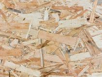 Zamyka w górę tekstury ukierunkowywająca pasemko deska - OSB Zdjęcia Stock