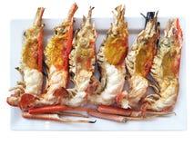 Zamyka w górę tnącego przyrodniego krewetkowego oparzenie dennego jedzenia zdjęcia royalty free