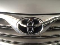 Zamyka w górę Toyota loga obraz stock
