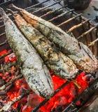Zamyka w górę Tradycyjnego węgla drzewnego Piec lub Piec na grillu suma na piecowym, Autentycznym Tajlandzkim ulicznym jedzeniu,  obraz stock
