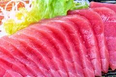 Zamyka W górę tuńczyka sashimi, surowa ryba - japoński jedzenie styl Fotografia Stock