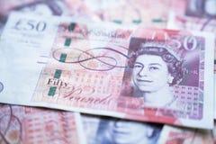 Zamyka w górę UK funta, pieniądze Zlany królestwo obraz stock