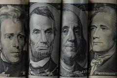 zamyka w górę widoku amerykańscy prezydenci obrazy stock