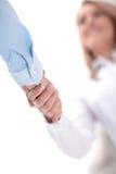 Zamyka w górę widoku biznesowy partnerstwo uścisku dłoni pojęcie Fotografia dwa biznesmenów handshaking proces sukces się Obraz Royalty Free