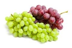 Zamyka w górę widoku dwa wiązki winogrono Zdjęcie Royalty Free