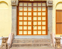 Zamyka w górę widoku hinduskiej świątyni brama, Kumbakonam, India, Dec 15 2016 zdjęcia royalty free
