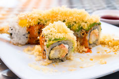 Krewetkowa tempura rolka Obrazy Royalty Free