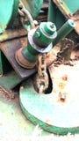 Zamyka w górę widoku Kotwicowego łańcuchu na holowniku Fotografia Stock