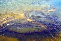 Zamyka w górę widoku oceanu prąd fotografia stock