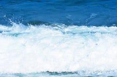 Zamyka w górę widoku piękny błękitny ocean fotografia stock