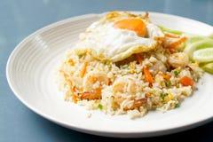 Zamyka w górę widoku smażący ryż Zdjęcia Royalty Free