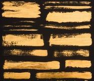 zamyka w górę widoku złoci farb uderzenia obraz royalty free