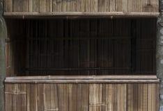 Drewniana, bambus rama/ Fotografia Royalty Free