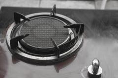 Zamyka w górę wizerunku benzynowa kuchenka stara zdjęcie stock