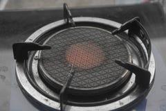 Zamyka w górę wizerunku benzynowa kuchenka stara obraz stock