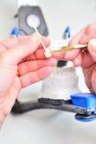 Zamyka w górę zębów higienistów Zdjęcia Royalty Free