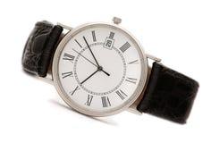zamyka w górę zegarków odosobnionych mężczyzna s Zdjęcia Royalty Free