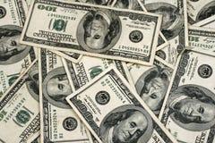 Zamyka W górę amerykanina Sto Dolarowych rachunków Zdjęcie Stock
