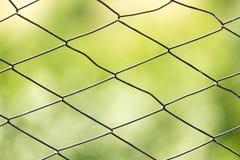 Zamyka w górę deseniowego barbeta drutu Fotografia Stock