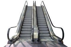 Zamyka w górę eskalatoru kroka Obrazy Stock