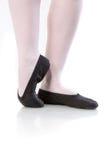 Zamyka w górę fotografii balerin pointes na bielu Obraz Stock