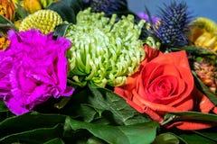 Zamyka w górę fotografii na kwiacie w bouqet Obrazy Stock