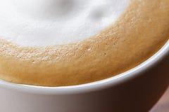 Zamyka w górę fotografii sucha piana na cappuccino Fotografia Stock