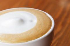 Zamyka w górę fotografii sucha piana na cappuccino Fotografia Royalty Free